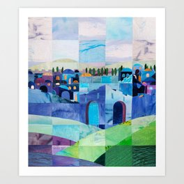 Jerusalem in Blue Art Print