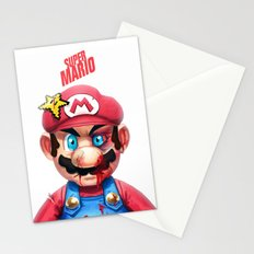 Beat Up Mario Stationery Cards