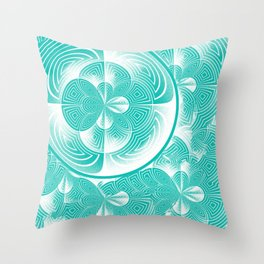 Light turquoise abstract Throw Pillow
