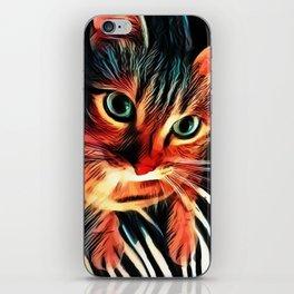 Cheshire Stripes Cat iPhone Skin
