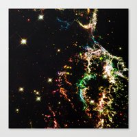 cosmic Canvas Prints featuring Cosmic by 2sweet4words Designs