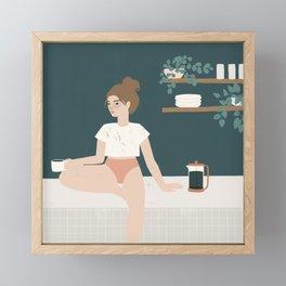 no plans no pants Framed Mini Art Print