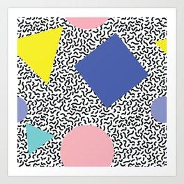 Memphis Pattern 1 Art Print