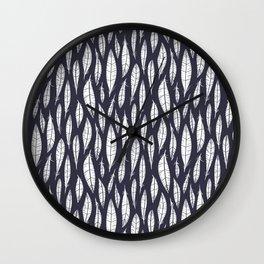 Quail Feathers (Midnight) Wall Clock