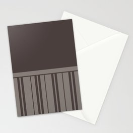 MUSHROOM STRIPE WITH BROWN GREY PLAIN COLOR Stationery Cards