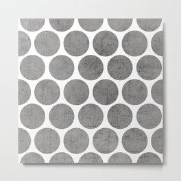 gray polka dots Metal Print