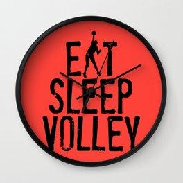Eat Sleep Volley Wall Clock