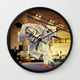 Traditional sparring - Taekwon-do ITF Wall Clock