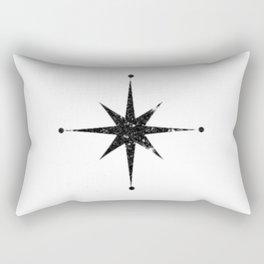 black 8 point star Rectangular Pillow