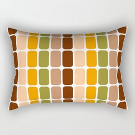 Retro 70s oval capsules brown orange moss green Rectangular Pillow