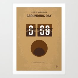 No031 My Groundhog Day minimal movie poster Art Print