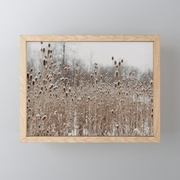 The Snow In The Meadow Framed Mini Art Print
