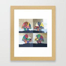 Cycle Pop Bike Multi 4 Series Framed Art Print