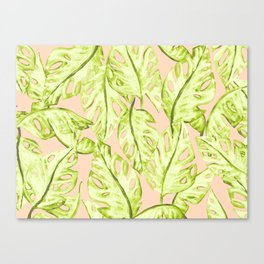 Pastel Jungle Canvas Print