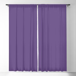 Dunn and Edwards 2019 Curated Colors Violet Majesty (Vivid Purple) DEA142 Solid Color Blackout Curtain