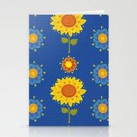 ukraine Stationery Cards featuring Sunflowers of Ukraine by rusanovska