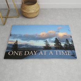 One Day at a Time Rooftop, Hills, and Trees Rug