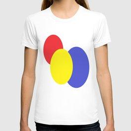 Red Yellow Blue mod circles T-shirt