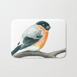 Bullfinch bird Bath Mat