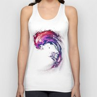 surfing Tank Tops featuring Space Surfing by nicebleed