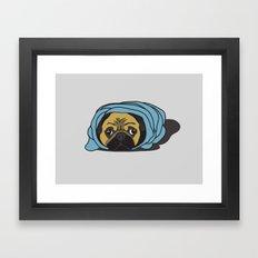 Snug as a Pug Framed Art Print