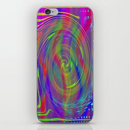 Color bytes iPhone Skin