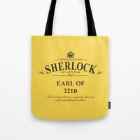 221b Tote Bags featuring Earl of 221B by Barn Bocock