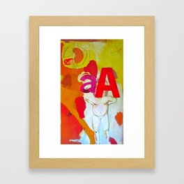 love comes before knowledge Framed Art Print