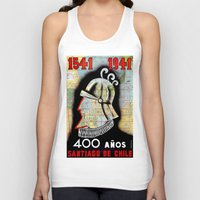 chile Tank Tops featuring CHILE by Kathead Tarot/David Rivera