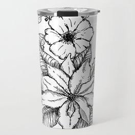 Poinsettia Florals & Winter Berries Travel Mug