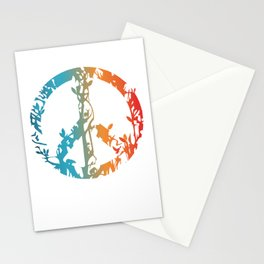 Animal nature peace sign  Stationery Cards