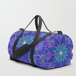 Lotus 2 - blue and purple Duffle Bag