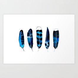 Sea Feathers Art Print