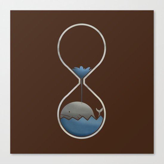 whale hourglass Canvas Print