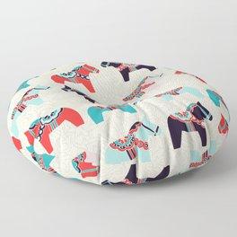 Cute Dala Horses Print Floor Pillow
