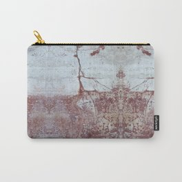 Red and White Concrete Wall Carry-All Pouch