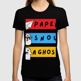 Paper Snow Ghost Funny Friends Quote T-shirt