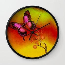 le papillon Japonais  Wall Clock