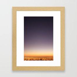 dusk colors Framed Art Print