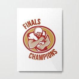 American Football Running Back Finals Champions Metal Print