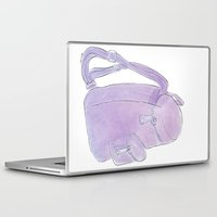 backpack Laptop & iPad Skins featuring Backpack purple by Atelier Pora