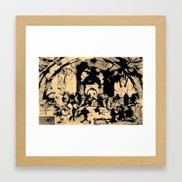 The Jackson Pollock School of Athens Framed Art Print