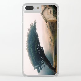 Leaning Cypress tree in Point Reyes National Seashore Clear iPhone Case