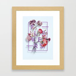 Flowers Bloom Botanicals Vintage Illustration Poster #3 Framed Art Print