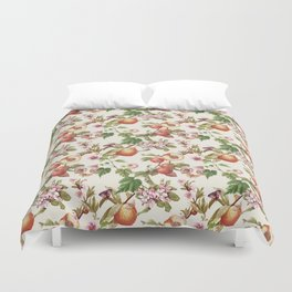 botanical fruits Duvet Cover