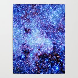 GAlaxy Periwinkle Stars Poster