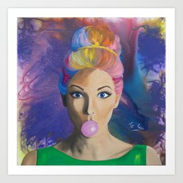 Colorful life Art Print