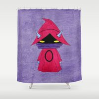 conan Shower Curtains featuring A Boy - Orko by Christophe Chiozzi