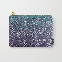 Purple Aqua MERMAID Glitter Scales Dream #2 #shiny #decor #art #society6 Carry-All Pouch