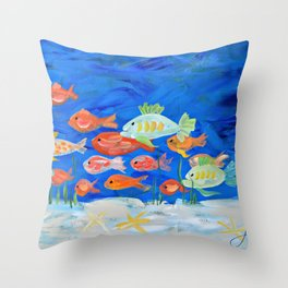 Go Fish! Throw Pillow